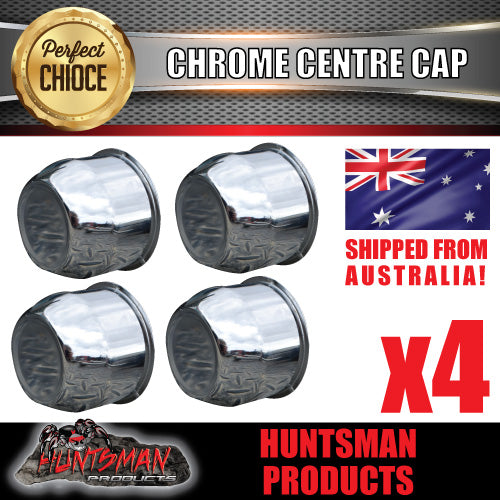 4X CHROME WHEEL CENTRE CAP- 74MM
