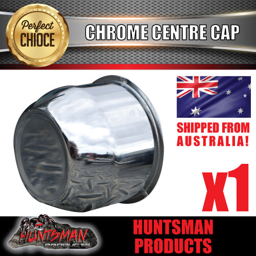 CHROME WHEEL CENTRE CAP- 74MM