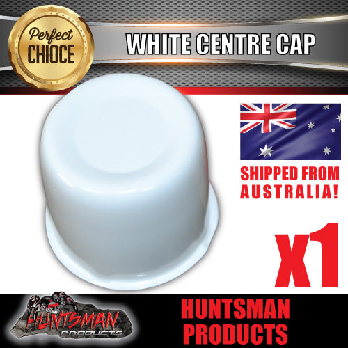 WHITE WHEEL CENTRE CAP- 83MM-86MM WHEEL CENTRES