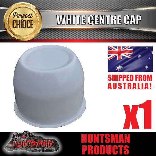 WHITE WHEEL CENTRE CAP- 74MM