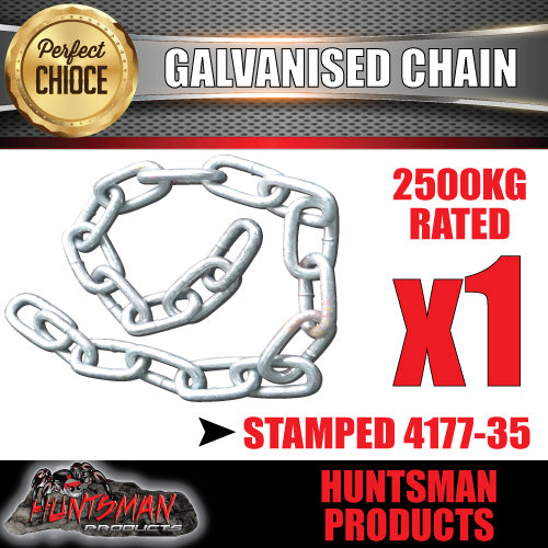 10mm trailer rated safety chain galvanised finish