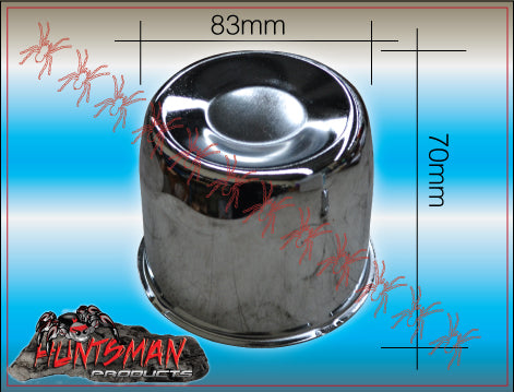4X CHROME WHEEL CENTRE CAP- 83MM
