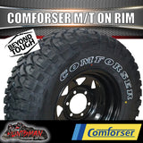 "265/65R17 Comforser L/T MUD tyre on 17"" black steel rim. 265 65 17"