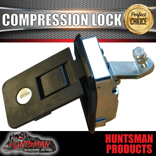 Large Black Compression Lock, Push Latch,