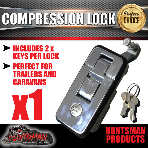 Large Chrome Compression Lock