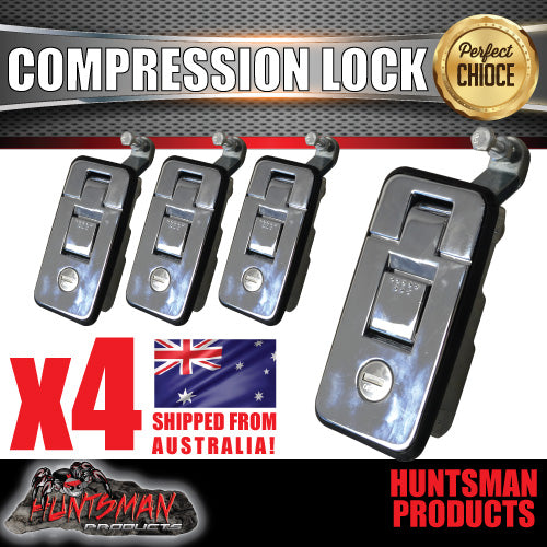 X4 Large Chrome Compression Locks
