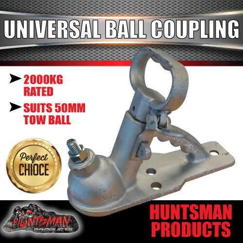 50mm Ball Universal Trailer Coupling Kit