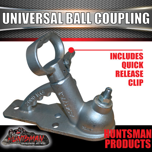 4 HOLE UNIVERSAL GALVANISED TRAILER BALL COUPLING