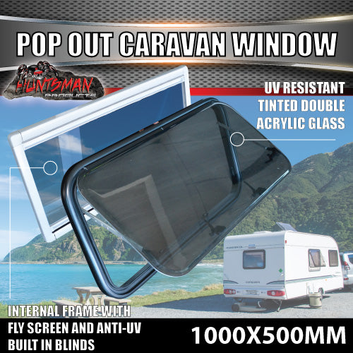 1000mm x 500mm Caravan Push Out Window