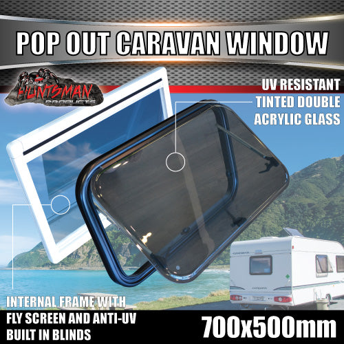 700mm x 500mm Caravan Push Out Window