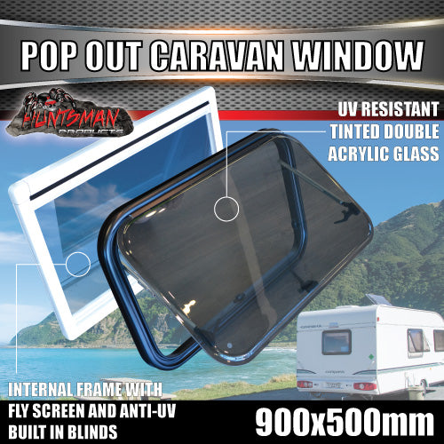 900mm x 500mm Caravan Push Out Window