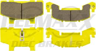 pair deemaxx replacement trailer brake pads. suit 1 caliper. ceramic back plates