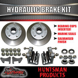 DIY 2000Kg Hydraulic Disc Braked Boat trailer Kit. Gal Axles, Slipper Spring