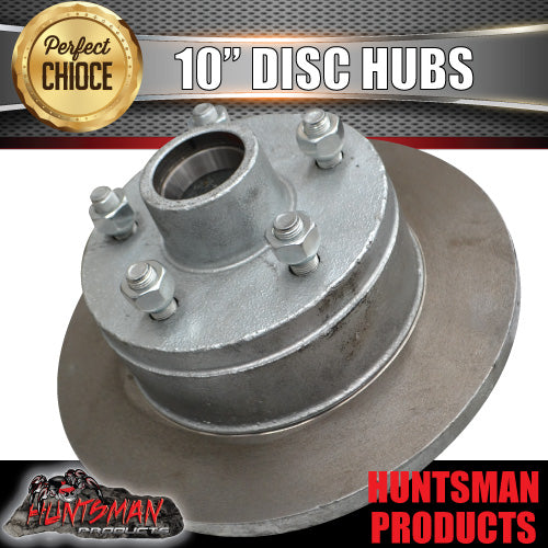 COMMODORE TRAILER GALVANISED DISC HUBS.  X 2 WITH LM HOLDEN BEARINGS