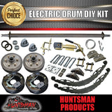 2500KG DIY Off Road Trailer Kit. Outback Springs, Electric Brakes. Poly Coupling
