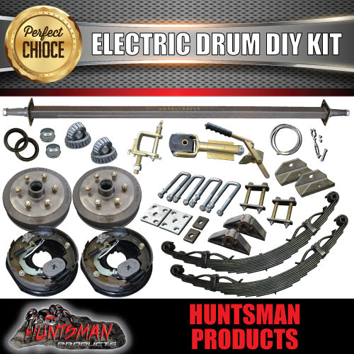 1400KG DIY Off Road Trailer Kit. Outback Springs, Electric Brakes. Poly Coupling