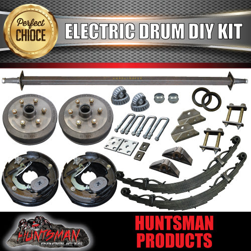 1600KG DIY Off Road Trailer Kit. Outback Springs, Electric Brakes, Solid Axle