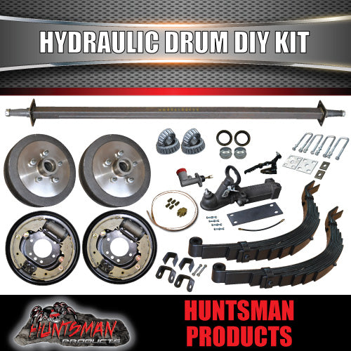 DIY TRAILER 1400KG HYDRAULIC DRUM BRAKED KIT.