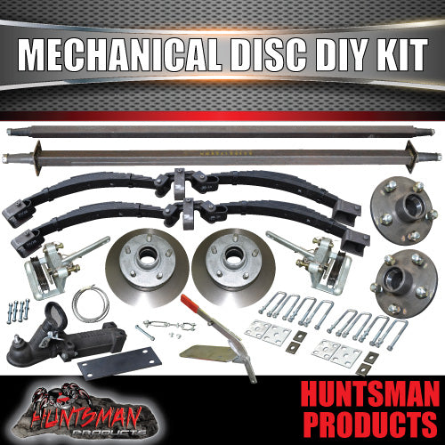 DIY 2000kg Tandem Trailer Suspension Kit Mechanical Disc Rocker Roller Springs