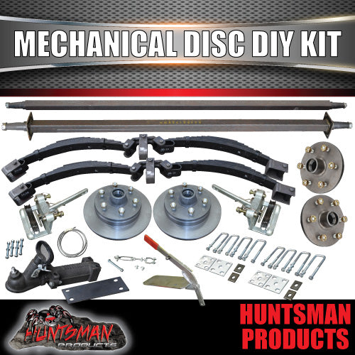 DIY 2000kg Tandem Trailer Suspension Kit L/C Mechanical Disc Rocker Roller