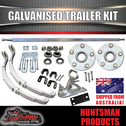 DIY 1000KG Boat Jetski Trailer Kit. Galvanised Axle Decromat slipper springs