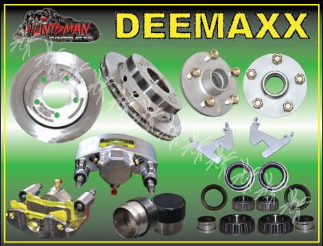 DEEMAXX COMPLETE SLIP OVER HYDRAULIC DISC BRAKE KIT 5 STUD. STAINLESS STEEL CALIPERS