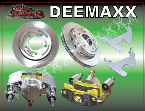 DEEMAXX SLIP OVER HYDRAULIC DISC BRAKE KIT 5 STUD. STAINLESS CALIPERS & DISCS