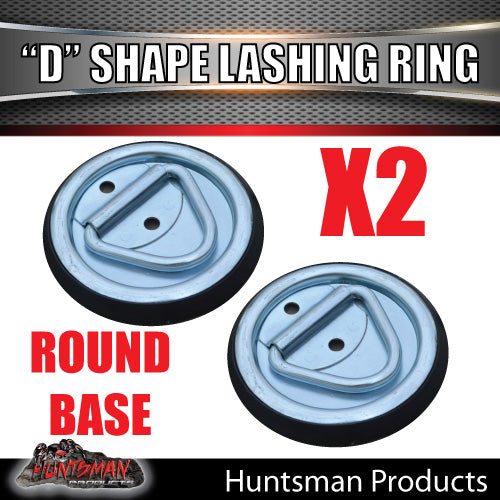 2X Lashing D Ring Tie Down Point & Metal Guard