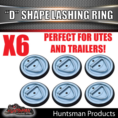6X Lashing D Ring Tie Down Point & Metal Guard