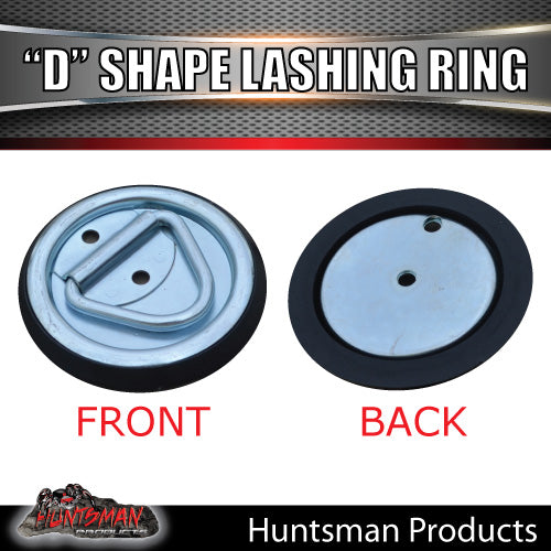 4X Lashing D Ring Tie Down Point & Metal Guard
