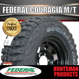 "265/70R17 L/T Federal Couragia Mud Tyre on 17"" Black Steel Rim. 265 70 17"