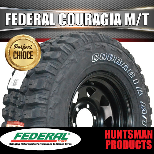 "285/75R16 L/T FEDERAL COURAGIA TYRE on 16"" BLACK STEEL WHEEL. 285 75 16"