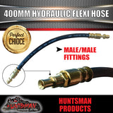 3x TRAILER HYDRAULIC RUBBER FLEXI BRAKE HOSE. 400MM. MALE / MALE.