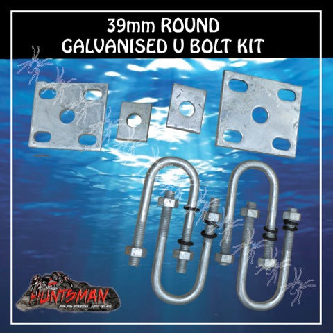 GALVANISED 39mm ROUND U BOLT KIT.
