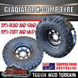"31x10.5R15 L/T Gladiator X-COMP Mud Tyre on 15"" Black Rim"