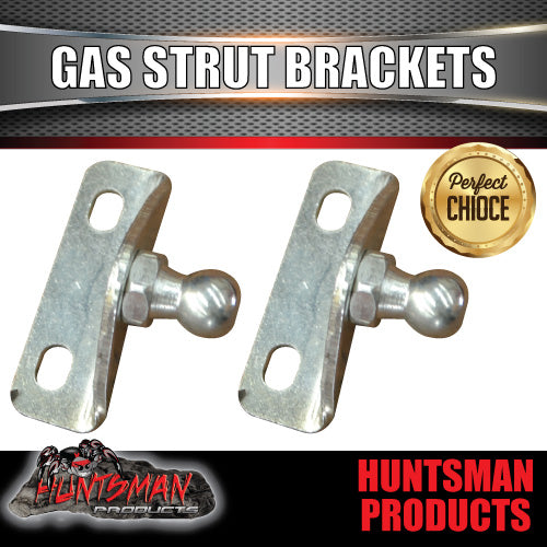 x2 EXTERNAL GAS STRUT BRACKETS SUIT 10MM BALL END STRUTS