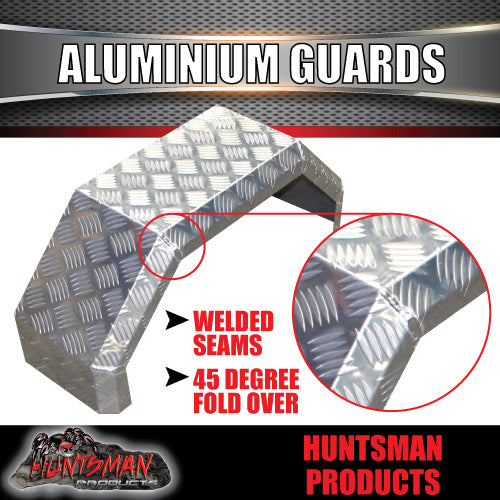 TRAILER GUARDS  -  SINGLE AXLE 250mm - ALLOY CHEQUER PLATE