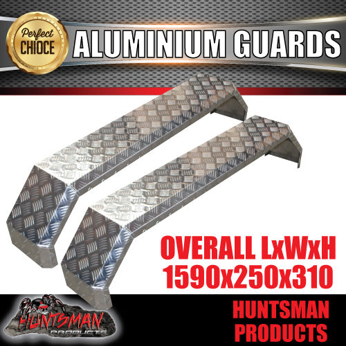 TANDEM 250M WIDE GUARDS- ALLOY CHEQUER - SLIPPER SPRINGS