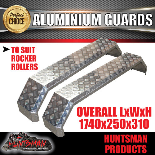 TANDEM 250MM WIDE GUARDS -ALLOY CHEQUER - ROCKER ROLLER SPRINGS