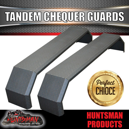 TANDEM 330MM GUARDS - OFF ROAD - CHEQUER PLATE - SLIPPER SPRINGS