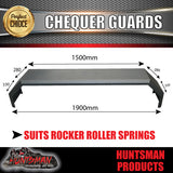 TANDEM 330MM GUARDS & STEPS - OFF ROAD - CHEQUER PLATE - ROCKER ROLLER SPRINGS