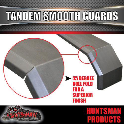 TANDEM 330MM GUARDS & STEPS-OFF ROAD-SMOOTH STEEL-SUIT SLIPPER SPRINGS