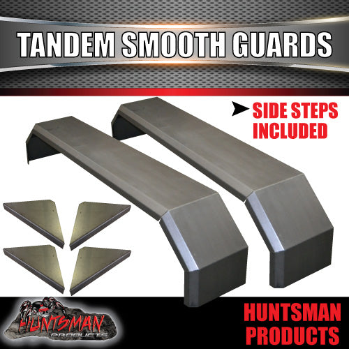 TANDEM 330MM GUARDS & STEPS-OFF ROAD-SMOOTH STEEL - ROCKER ROLLER SPRINGS