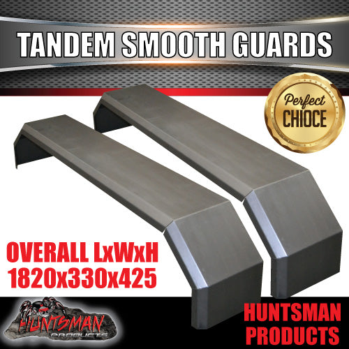 TANDEM 330MM GUARDS-OFF ROAD-SMOOTH STEEL-SUIT SLIPPER SPRINGS