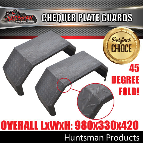 TRAILER GUARDS-OFF ROAD-SINGLE AXLE-CHEQUER STEEL