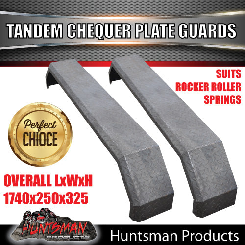 TRAILER GUARDS- TANDEM- CHEQUER PLATE- ROCKER ROLLER SPRINGS