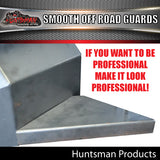 TRAILER GUARDS -OFF ROAD- SINGLE AXLE -SMOOTH STEEL & STEPS