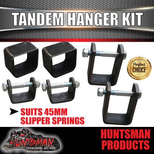 45mm WIDE TANDEM SLIPPER SPRING HANGER KIT.