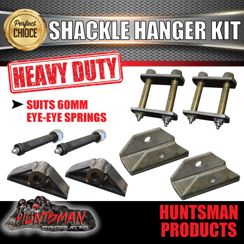 OFF ROAD 60mm EYE TO EYE SHACKLE HANGER KIT