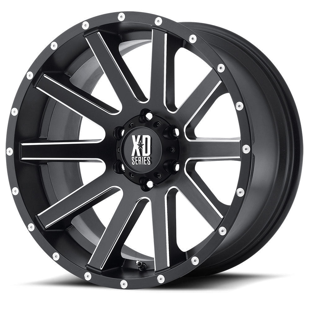 KMC XD818 HEIST 20x10 Satin Black Milled Alloy Mag Wheel suit Hilux Ranger